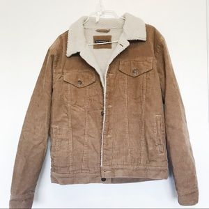 Brandy Melville Shaine Corduroy fur lined Jacket